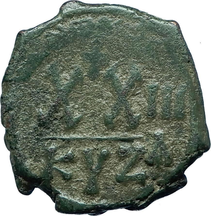 PHOCAS Genuine 602AD Cyzicus Half Follis Authentic Ancient Byzantine Coin i66086 2