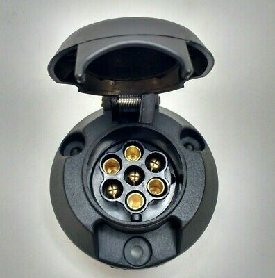 7 Pin Trailer Plug & Socket Plastic 12V 12N Towing Car Van Maypole MP23B & MP21B 4