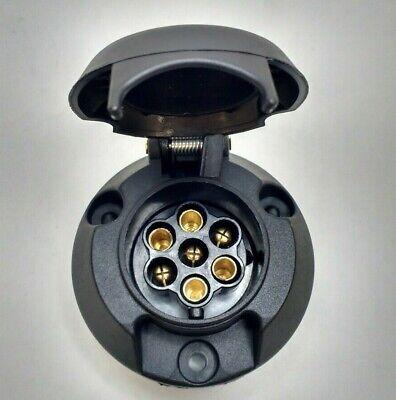 7 Pin Trailer Socket Wiring Plastic 12V 12N Towing Tow Bar Car Van Maypole Mp23B 4