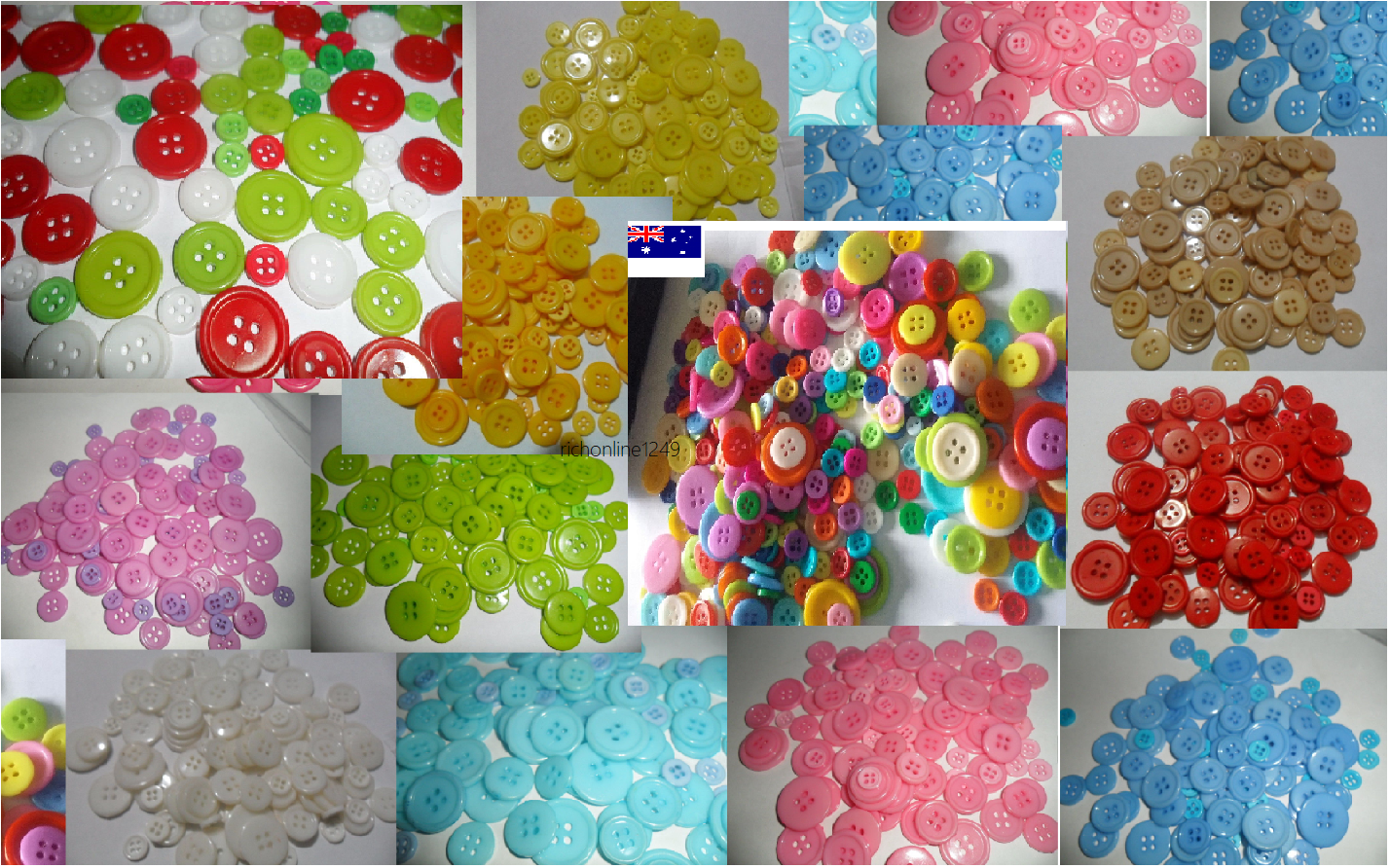 Buttons bulk 100 200 400 1000 Craft sewing multi single colour 9~23  Christmas 2