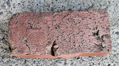 Vintage Antique San Jose Raised Lettering Clay Brick -- 1887 - 1927 - SJB Co.