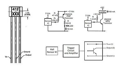 3x Honeywell 41F SS41F SH41 SENSORE MAGNETICO EFFETTO HALL Bipolar Bicicletta 2