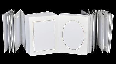 Leporello für 50 Fotos 13x18 - weiß mit Goldkante - Passepartouts eckig + oval 3