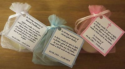 Funeral Personalised Remembrance & any occasion candle favours. Light in memory 4