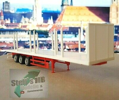 1:87 Herpa EM7031 5x Teletrailer Aufbau orange für  Umbau Eigenbau