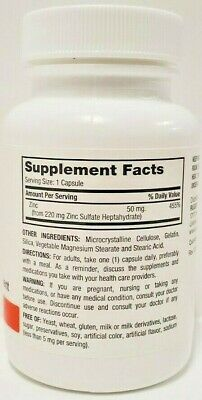 Rugby Zinc 50 mg 100 Capsules Each -Expiration Date 02-2022 2