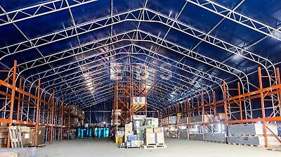 Steel Framed Storage Building Industrial Portable Temporary Commercial Warehouse 2
