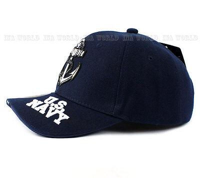82edb75b90b 3 of 6 U.S. NAVY hat Military NAVY Official Licensed Baseball cap  Strapback- Navy Blue