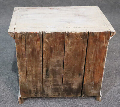 Rare Antique 1840s Era Salesmans Sample Painted Dresser Jewelery Box 5