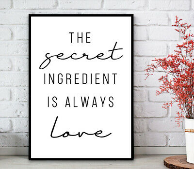Kitchen Minimalist Wall Art Poster Prints.Quality Matching Home Picture Quote 4
