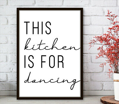 Kitchen Minimalist Wall Art Poster Prints.Quality Matching Home Picture Quote 5