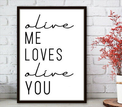 Kitchen Minimalist Wall Art Poster Prints.Quality Matching Home Picture Quote 6