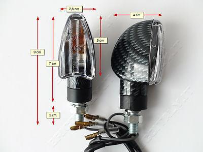 21W omologate GAMBO LUNGO ducati yamaha 2 FRECCE MOTO NERE NERO lampadina 12V