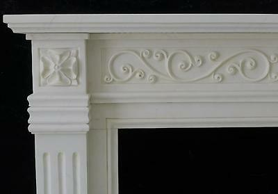 Beautiful Hand Carved Marble European Design Marble Figural Fireplace Mantel Z5 3