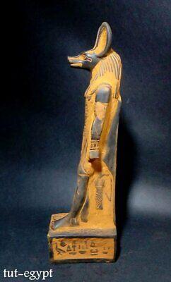 Rare ANCIENT EGYPTIAN ANTIQUES ANUBIS God Mummy Deity Dog  STATUE STONE 3150 BC 2