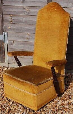 Delightful Vintage Low Seated Nursing Chair - Barley Twist Arms 2