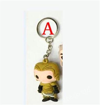 Game Of Thrones Pocket Daenerys Jon Snow Figure Keychain Hot 3