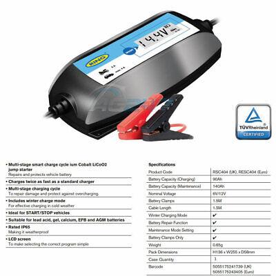 Ring RSC404 6v 12v Digital 4A Intelligent Smart Car Motorbike Battery Charger 6