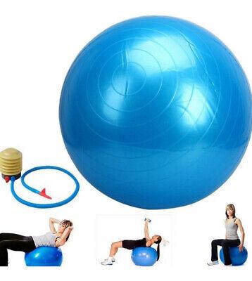 Palla fitness gonfiabile con pompa 65 cm pilater yoga ginnastica preparto 2
