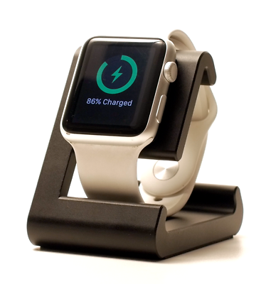 REFURBISHED TimeDock Apple Watch Dock for Charging, Stand, Dual Position - Black