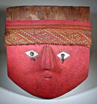 Pre-Columbian Chancay Mask & Headband Ex: Sotheby's 9