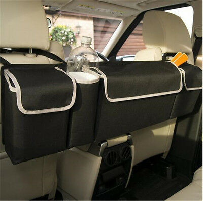 Black High Capacity Multi-use Car Seat Back Organizers Bag Interior Accessories 6