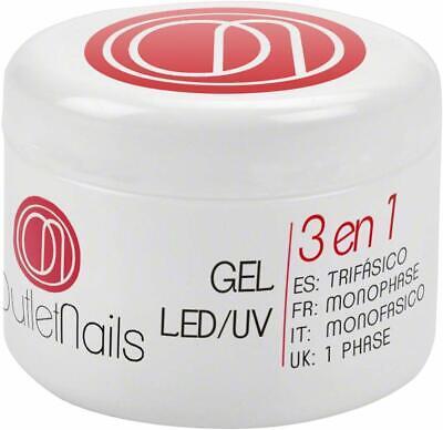 Gel 3 In 1 Uv Monofase Rose 50Ml Nail Art Monofasico Ricostruzione Unghie Primer 5