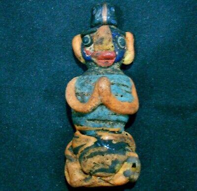 Very RARE Ancient Phoenician Mosaic Glass Pendant Full Body Pay Respect Bead 811 2