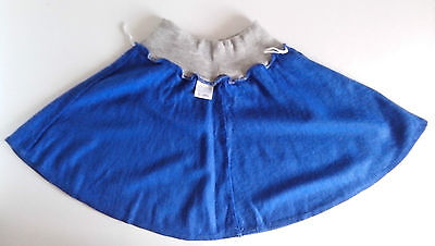 Blue with Grey waistband Skating Skirt   Size: 100cm   1980s vintage 2