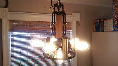 Markel 6 Light Chandelier 100% Restored Industrialized  Edison St64 60w Bulbs 3