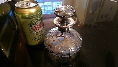 Antique Sterling and Glass Perfume Bottle 6