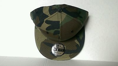 aba1d925 NEW ERA 9FIFTY Flat Snapback Hat Cap Blank Camouflage Army Camo Military  9FIFTY