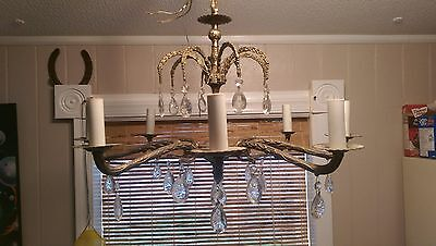 Awesome Antique  Solid Brass 8 Light Chandelier 2