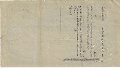 NEVADA 1919 Gold Zone Mining Company Stock Certifiicate Tonopah 2