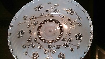 Art Deco Antique 3 Chain Hanging Shade 3