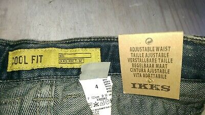 SAVE£40 New Ikks Designer rrp£59.99 boys denim jeans 6yrs BNWT adjustable waist 6