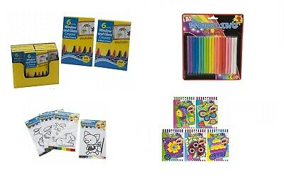 Kids arts and crafts kits activity creative paint stickers pens indoor play 3