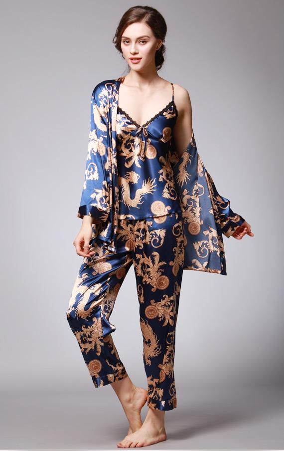 New Luxurious Ladies Womens Pink with Bamboo Kimono Pyjama Pajama ladpj180