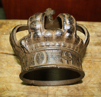 Cast Iron Royal Crown King Queen Door Stop Home Decor Paper Weight Book End