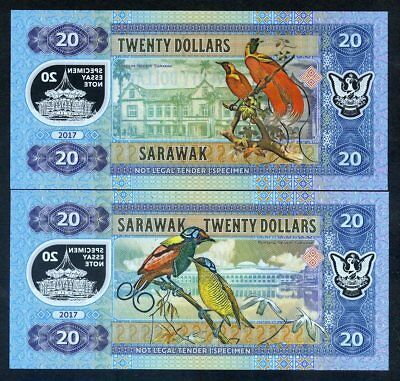 Private Issue 2017 2 x 500 dollars SET Sarawak Malaysia matching S//ns UNC
