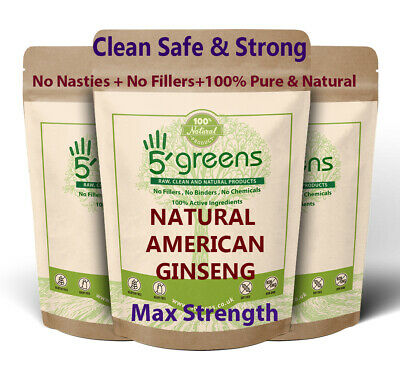 American Ginseng Capsules 10,000mg Strongest & Best Value Natural Veg Capsules- 6