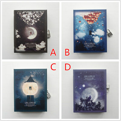 """Like a Dream"" 1pc Journal Notebook Lock Box Diary Cute Stationery Gift Package 2"