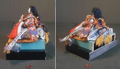 Fine Japanese Meiji Period Emperor & Empress Dolls on Stand 6