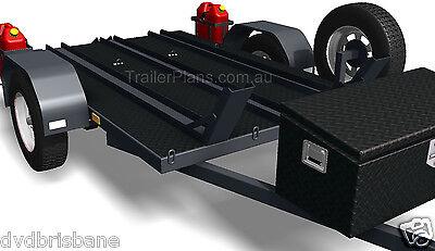 Trailer Plans - 2500kg FLATBED, BOX & MOTORBIKE TRAILER PLANS - Plans on CD-ROM 10
