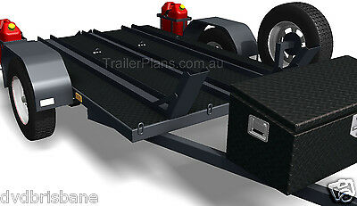Trailer Plans - MOTORBIKE TRAILER PLANS - 3 Bike Design 7x5ft - PLANS ON CD-ROM 2