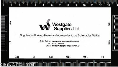 Westgate Supplies Stamp Perforation Gauge / Guide / Measure - Double Sided 2