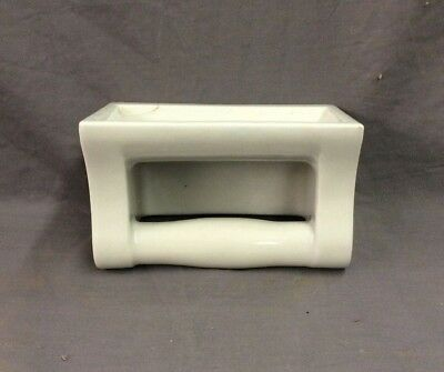 Vtg Ceramic White Porcelain Soap Dish Grab Bar Wall Mount Old Fixture 21-19D 3