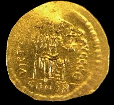 Ancient Byzantine Coin Justin Ii, 565-578 Ad Scarce Solid Gold Coin! Choice! 2