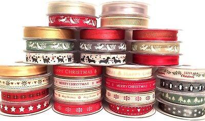 Selection Berisfords Christmas Ribbon Craft Gift Wrapping Christmas Ribbons 5