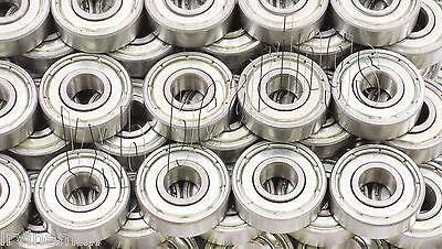 Lot of 100 inline//Skate//Rollerblade Ball Bearings 608ZZ 608-2Z Roller Hockey BB
